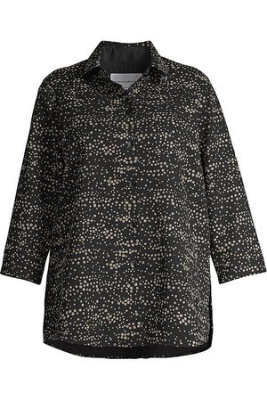 Caroline Rose Women's Tiny Bubbles Crepe Boyfriend Shirt - Multi - Size XXXL