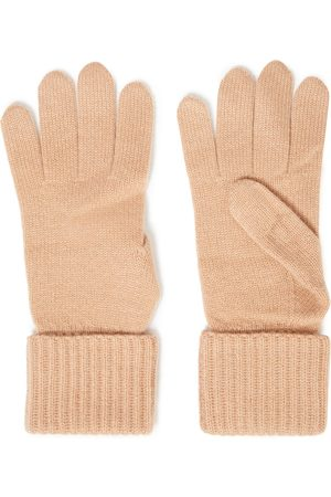 N.PEAL Women Gloves - Woman Cashmere Gloves Sand Size ONESIZE