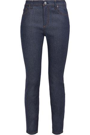 Acne Studios Woman Peg Cropped High-rise Skinny Jeans Dark Denim Size 28W-32L