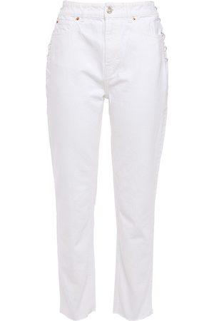 IRO Woman Fernos Lace-up High-rise Slim-leg Jeans Size 24