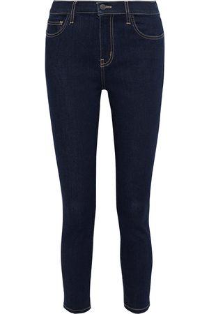 Current/Elliott Woman The Stiletto Cropped High-rise Skinny Jeans Dark Denim Size 23