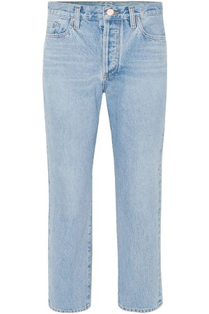 Goldsign Women Straight - Woman The Low Slung Cropped Mid-rise Straight-leg Jeans Light Denim Size 28