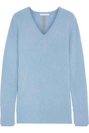 DUFFY Woman Split-back Cashmere Sweater Sky Size L