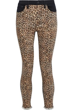 ALICE+OLIVIA Woman Good Paneled Leopard-print High-rise Skinny Jeans Animal Print Size 24