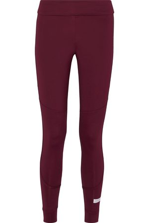 adidas Woman The Fold Tight Gathered Climalite Leggings Burgundy Size S