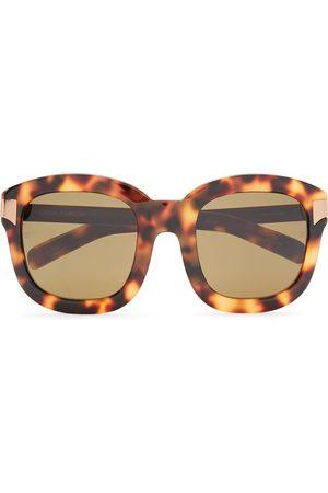 Linda Farrow Women Square - Woman Square-frame Gold-tone And Tortoiseshell Acetate Sunglasses Light Size