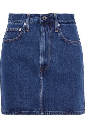 Helmut Lang Woman Femme Hi Denim Mini Skirt Mid Denim Size 24