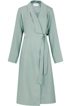 Viktoria & Woods Homecoming sage woven trench coat