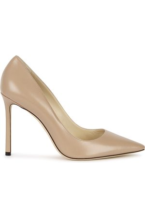 Jimmy Choo Romy 100 almond leather pumps