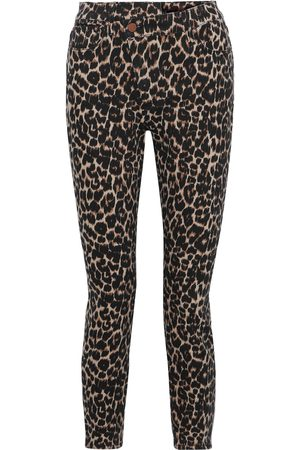 ALICE+OLIVIA Woman Good Cropped Leopard-print High-rise Skinny Jeans Animal Print Size 24