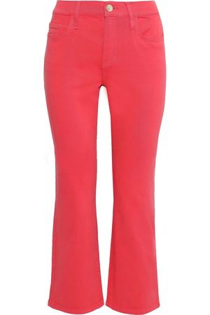 Current/Elliott Woman The Kick High-rise Kick-flare Jeans Coral Size 26
