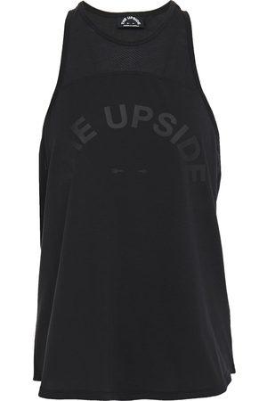 The Upside Woman Madison Dri Printed Stretch-jersey Tank Size 10