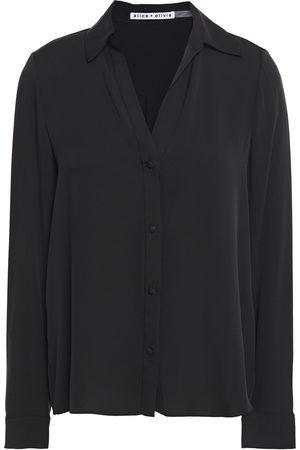 ALICE+OLIVIA Woman Eloise Silk-blend Shirt Size L