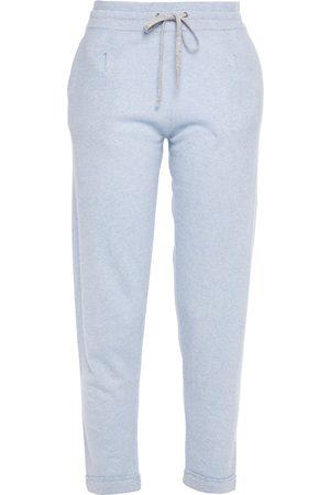 Duffy Women Sweatpants - Woman Cashmere And Linen-blend Track Pants Sky Size M