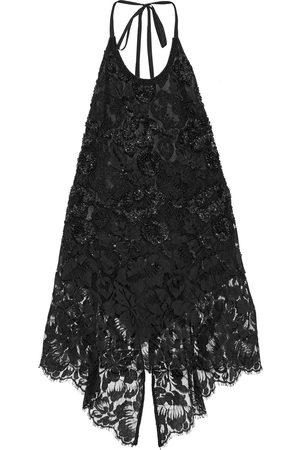 Stella McCartney Woman Thalia Embellished Cotton-blend Lace Halterneck Top Size 36