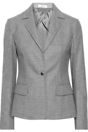 CASASOLA Women Blazers - Woman Mélange Wool-blend Blazer Size 36