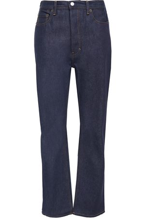 Acne Studios Woman Log High-rise Straight-leg Jeans Dark Denim Size 24W-32L