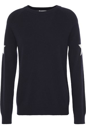 Chinti & Parker Women Sweaters - Woman Intarsia Wool And Cashmere-blend Sweater Navy Size L