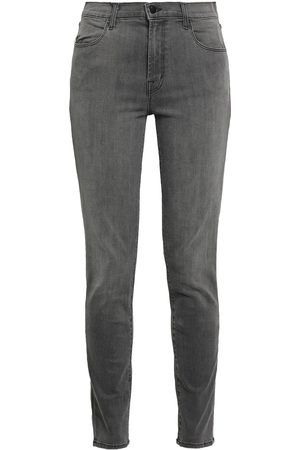 J Brand Woman Maria Faded High-rise Skinny Jeans Dark Size 23