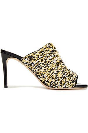 Victoria Beckham Women Sandals - Woman Crocheted Cotton-blend Mules Size 36
