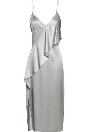 Cushnie Woman Draped Silk-satin Midi Slip Dress Light Size 2