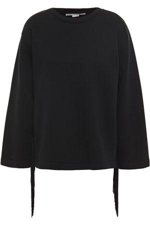 STELLA McCARTNEY Woman Fringed Cotton-scuba Sweatshirt Size 36
