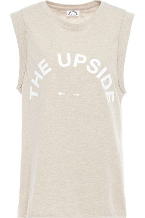 The Upside Woman Printed Slub Cotton-jersey Tank Light Size 10