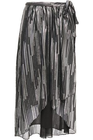 IRO Women Printed Skirts - Woman Dorie Metallic Printed Jersey Wrap Skirt Size 34