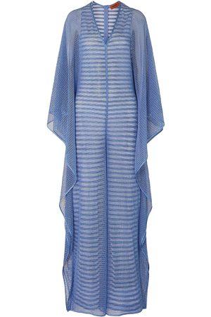 Missoni Woman Draped Metallic Crochet-knit Wide-leg Jumpsuit Light Size 38