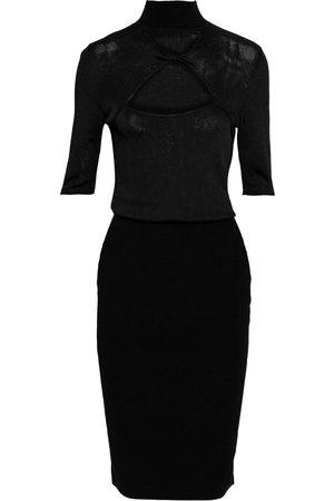 Cushnie Woman Cutout Twisted Stretch-knit Dress Size L