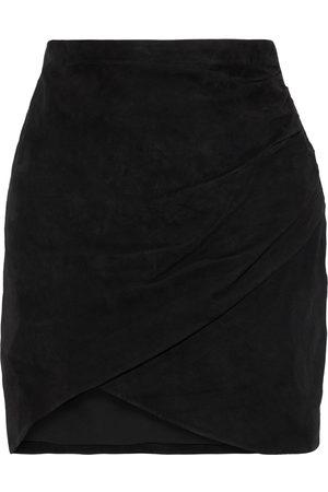 ALICE+OLIVIA Woman Fidela Wrap-effect Suede Mini Skirt Size 0