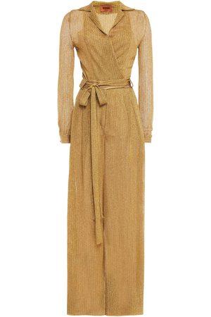 Missoni Woman Wrap-effect Metallic Crochet-knit Wide-leg Jumpsuit Size 42