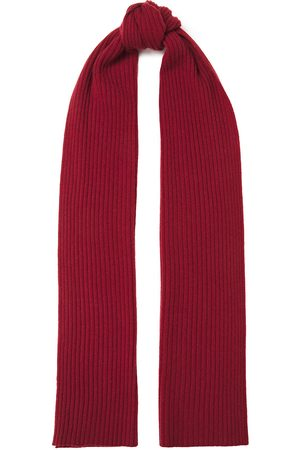 N.PEAL Woman Ribbed Cashmere Scarf Crimson Size