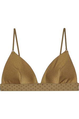 ZIMMERMANN Woman Jacquard-trimmed Triangle Bikini Top Sage Size 0