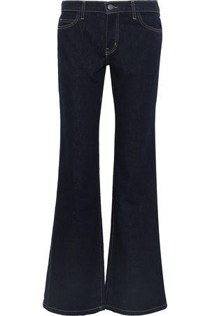 Current/Elliott Woman The Wray Mid-rise Flared Jeans Dark Denim Size 26