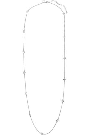 Kenneth Jay Lane Women Necklaces - Woman Rhodium-plated Crystal Necklace Size