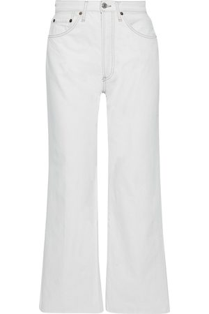 RE/DONE Woman High-rise Straight-leg Jeans Light Denim Size 24