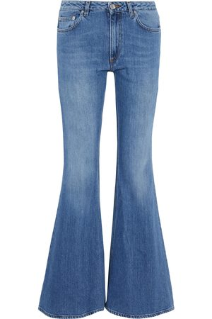 Acne Studios Women Flares - Woman Mello Faded Low-rise Flared Jeans Mid Denim Size 32