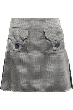 Ellery Woman Checked Satin-jacquard Mini Skirt Size 10