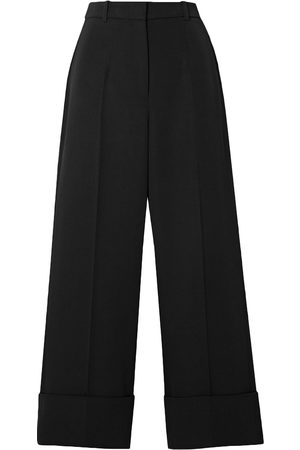Michael Kors Woman Cropped Wool-twill Straight-leg Pants Size 10