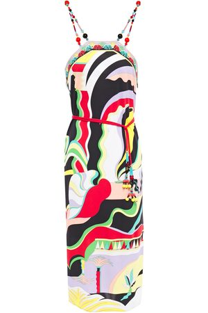 Emilio Pucci Women Casual Dresses - Woman Bead-embellished Printed Jersey Dress Size 38