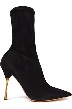 VALENTINO GARAVANI Woman Stretch-suede Sock Boots Size 36.5