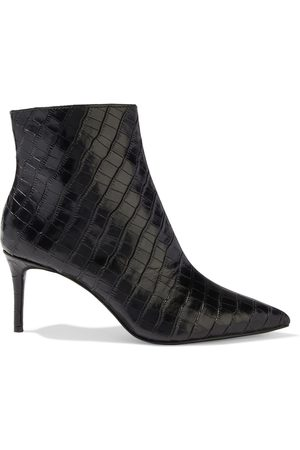 ALICE+OLIVIA Woman Frema Croc-effect Leather Ankle Boots Size 36
