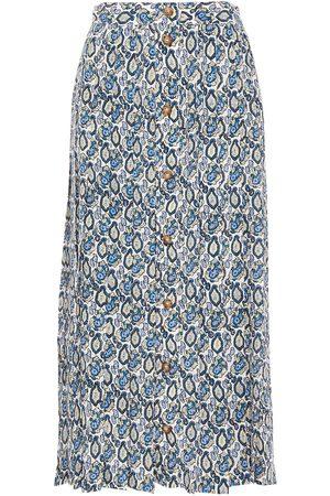 Victoria Beckham Woman Pleated Printed Silk-georgette Midi Skirt Size 10