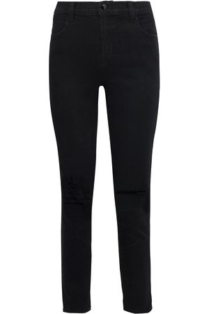 J Brand Woman Alana Distressed High-rise Skinny Jeans Size 23