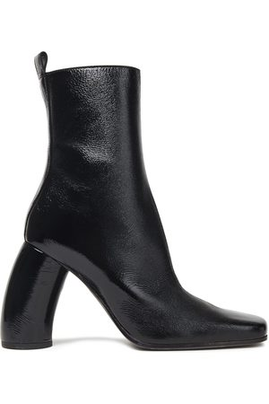ANN DEMEULEMEESTER Women Ankle Boots - Woman Crinkled Patent-leather Ankle Boots Size 35