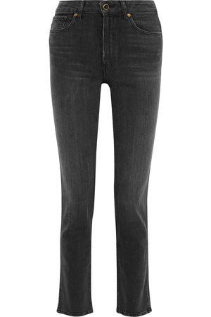 Khaite Woman Victoria Faded High-rise Straight-leg Jeans Size 30