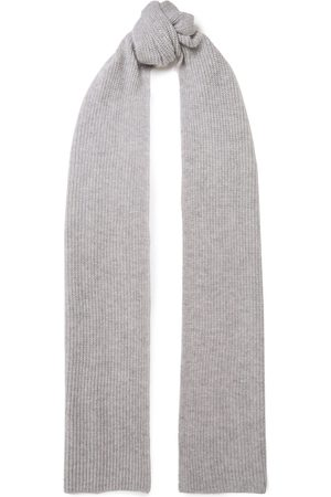 N.PEAL Woman Ribbed Cashmere Scarf Stone Size