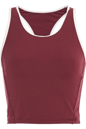 The Upside Woman Inge Cropped Stretch Tank Burgundy Size 10