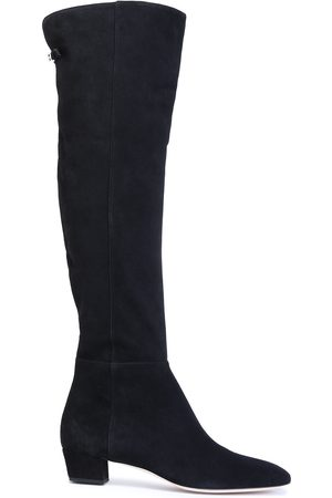 Sergio Rossi Woman Suede Knee Boots Size 37.5